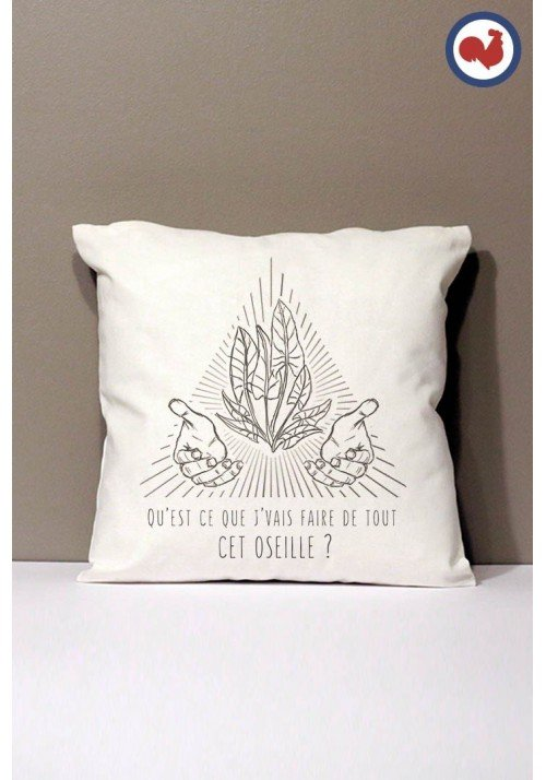 Oseille Coussin Made in France Bio