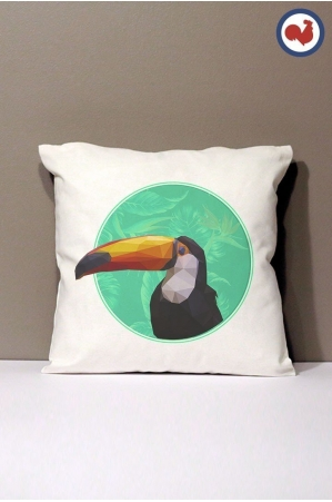 Toucan Coussin Made in France Bio