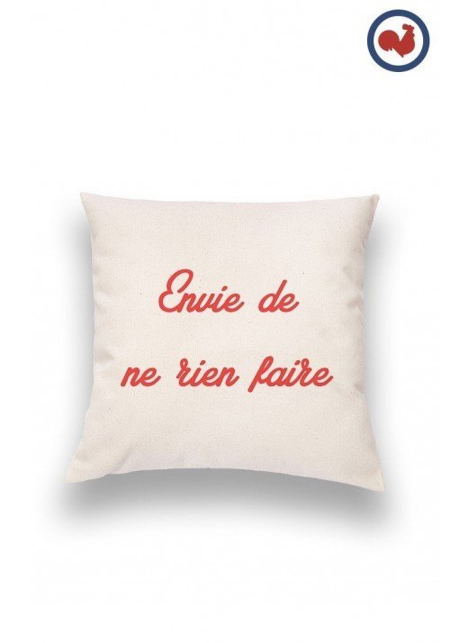 envie de rien Coussin Made in France Bio