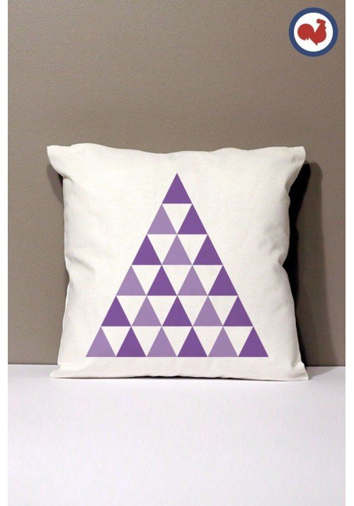 Triangles Coussin Made in France Bio