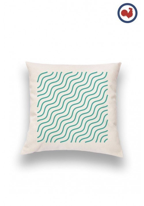 Vagues Coussin Made in France Bio
