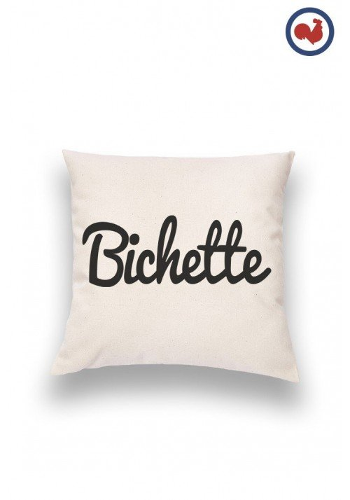 Bichette Typo Coussin Made in France Bio