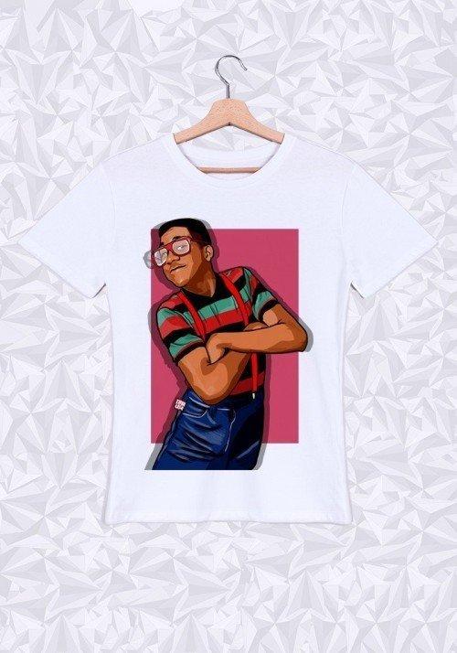 Steve Urkel T-shirt Homme Col Rond