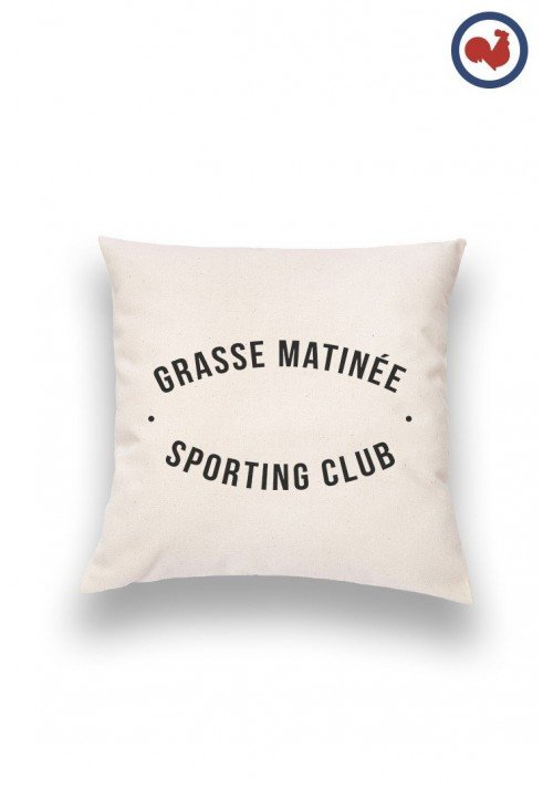 Grasse matinée sporting club Coussin Made in France Bio