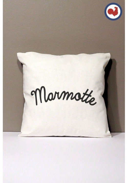 Marmotte Coussin Made in France Bio