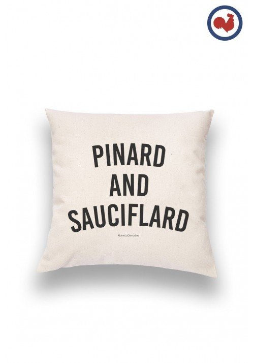 Pinard et Sauciflard Coussin Made in France Bio