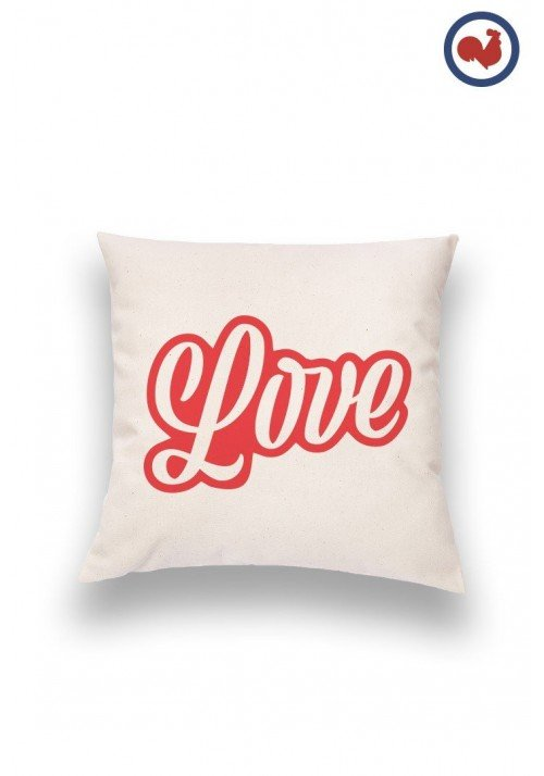 Red Love Coussin Made in France Bio