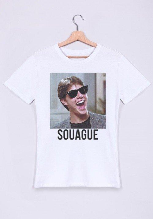 Souague T-shirt Homme Col Rond