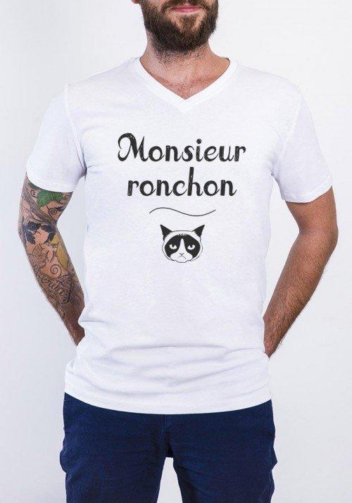 Monsieur Ronchon T-shirt Homme Col V