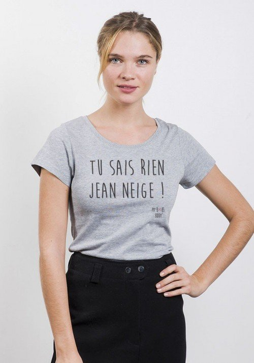 Jean Neige T-shirt Femme Col Rond
