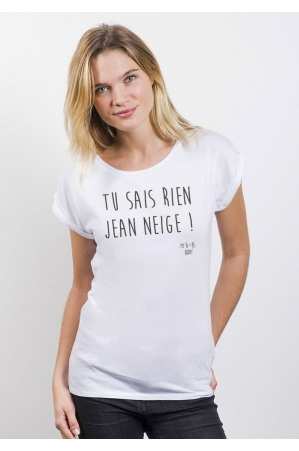 Jean Neige T-shirt Femme Manches Retroussées