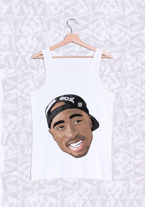 Tupac Cap Débardeur Homme