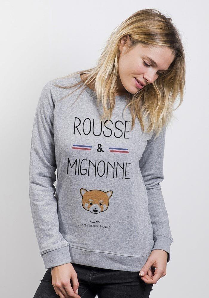 sweat Femme Rousse et Mignonne