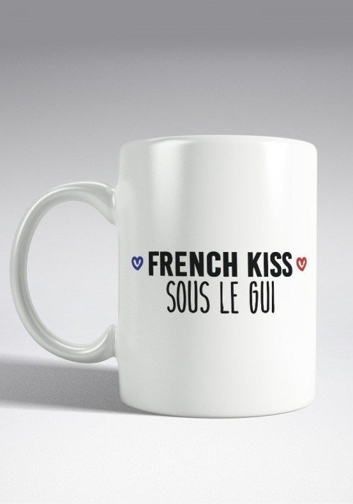 French Kiss sous le Gui Mug