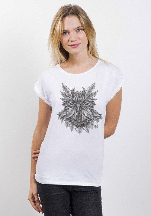 Inkbou T-shirt Femme Manches Retroussées