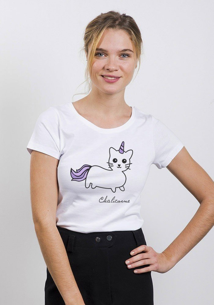 Chat Licorne t-shirt femme