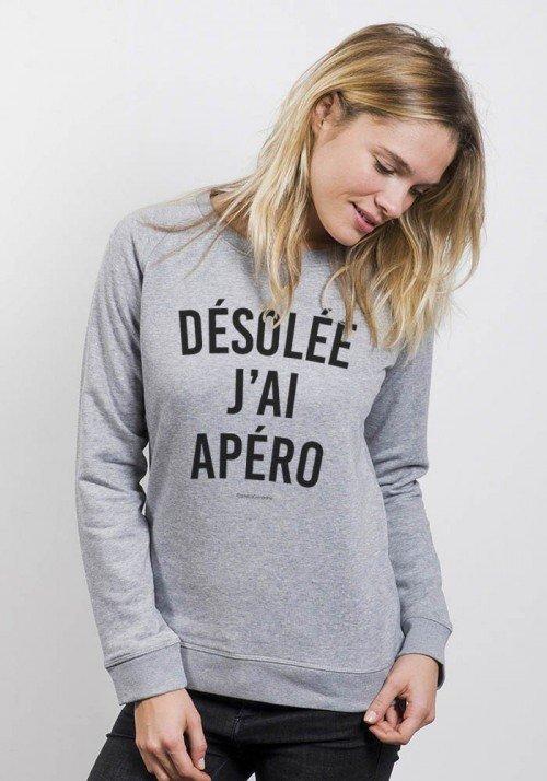 Désolée J'ai Apéro Sweat Femme