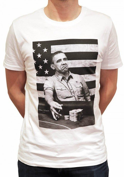 Obama T-shirt Homme Col Rond