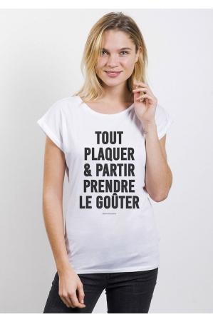 Tout Plaquer T-shirt Femme Manches retroussées