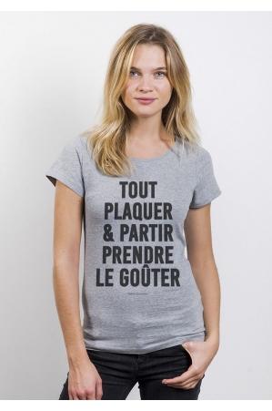 Tout Plaquer T-shirt Femme Col Rond