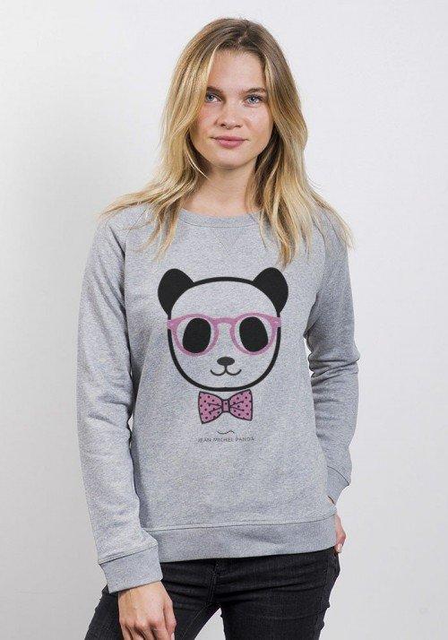 Panda noeud pap - Sweat Femme