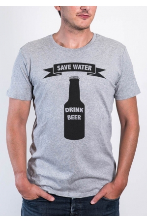 Save Water T-shirt Homme Col Rond