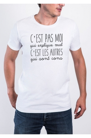 Pas moi T-shirt Homme Col rond
