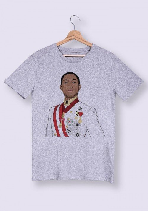 Pharrell Buste T-shirt Homme Col Rond