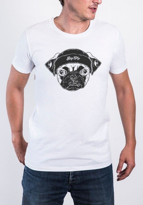 Big Pug T-shirt Homme Col rond
