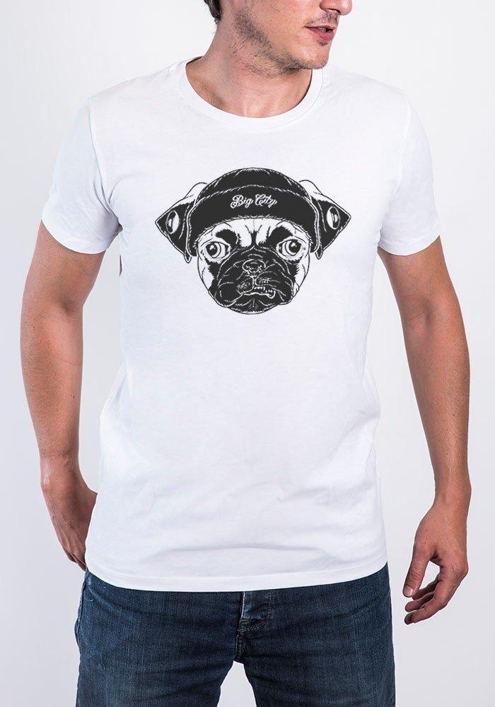 Big Pug T-shirt Homme Col rond