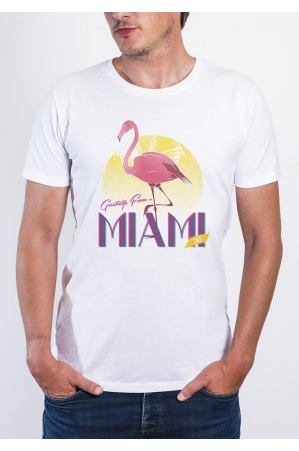 Miami T-shirt Homme Col rond