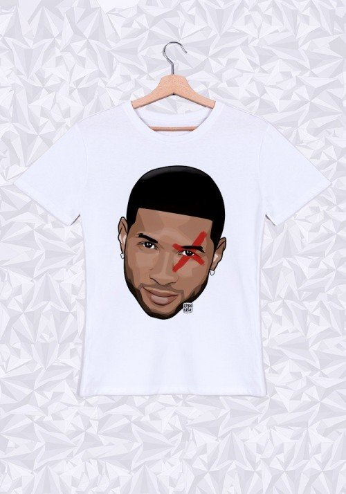 Usher Head T-shirt Homme Col Rond