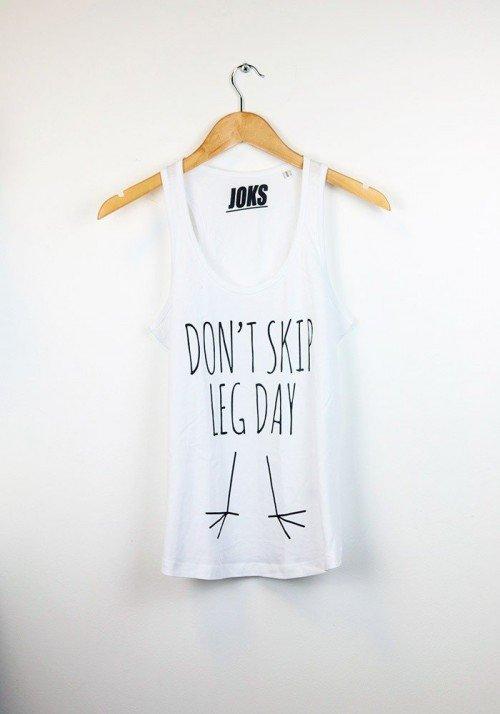 """""""Don't Skip"""" - Débardeur Femme - Joks Runners Sport"""