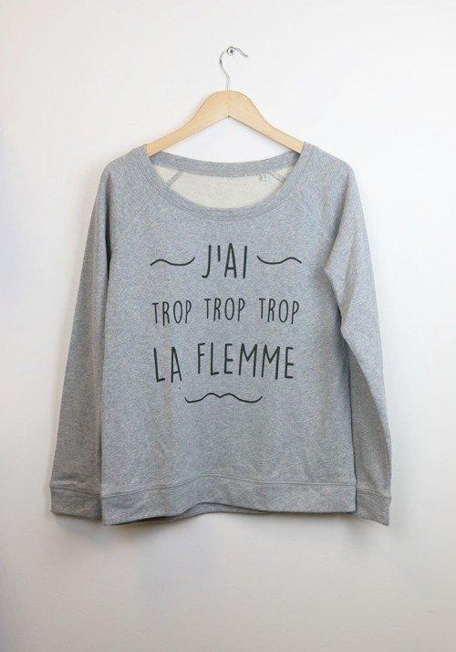 Sweat Femme - Bear Shop  J'ai trop la Flemme