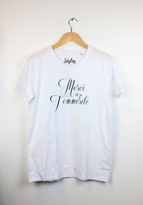 Merci et je t'emmerde T-shirt Homme Col Rond - Styley