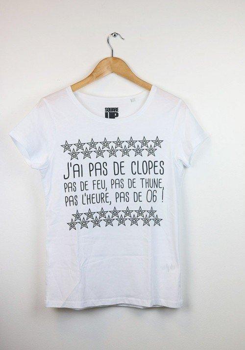 J'ai pas de Clope - Square Up - T-shirt Femme Col Rond
