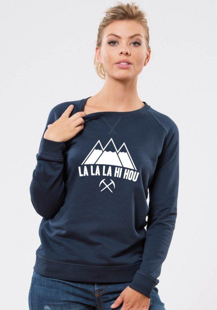 La La La  - Square Up - Navy Sweat Femme