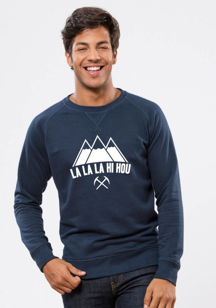 La La La  - Square Up - Navy Sweat Homme