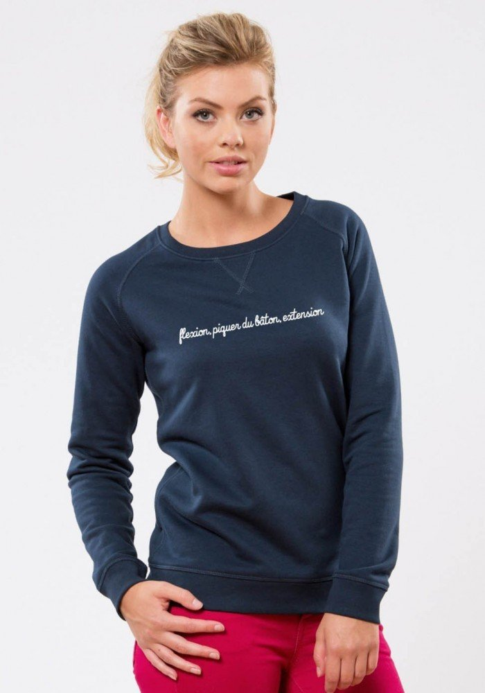 Skier - Square Up - Navy Sweat Femme