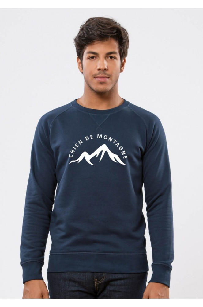 53e4330cf66c0 Chien de montagne - Square Up - Navy Sweat Homme