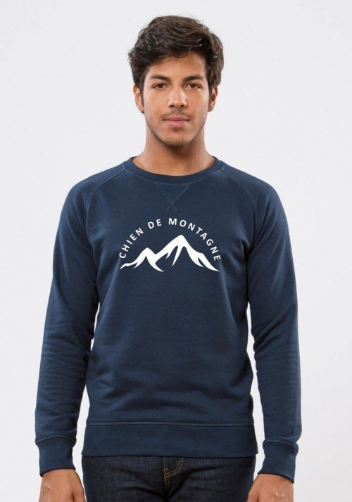 Chien de montagne - Navy Sweat Homme