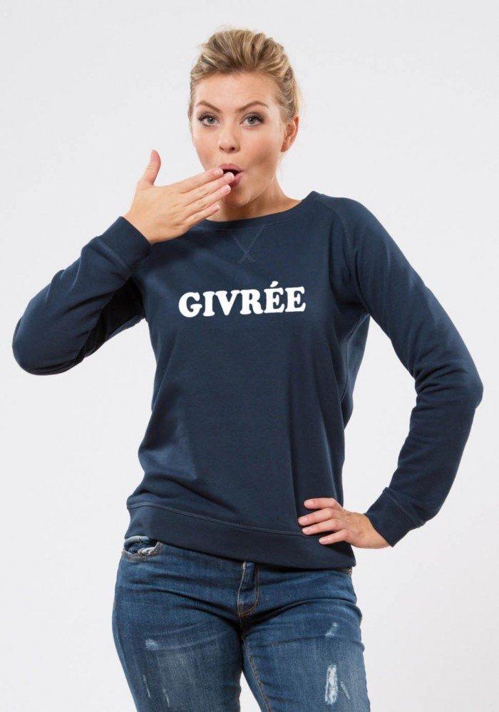 Bichette Navy Sweat Femme