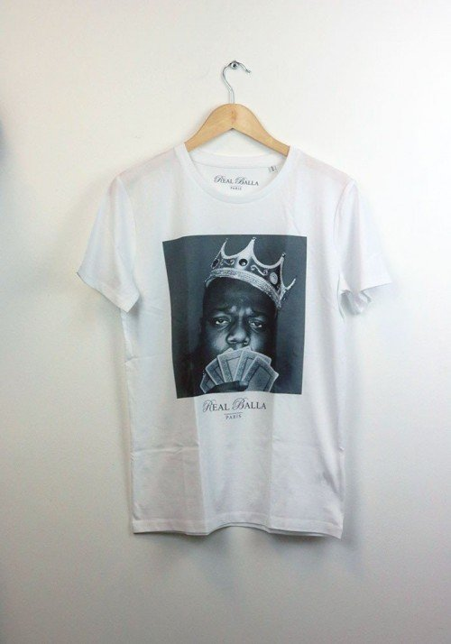 Biggie - Real Balla - Tee-shirt Homme Col Rond