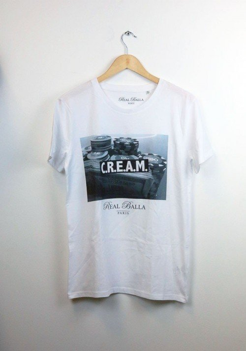 C.R.E.A.M. - Real Balla  - T-shirt Homme Col Rond