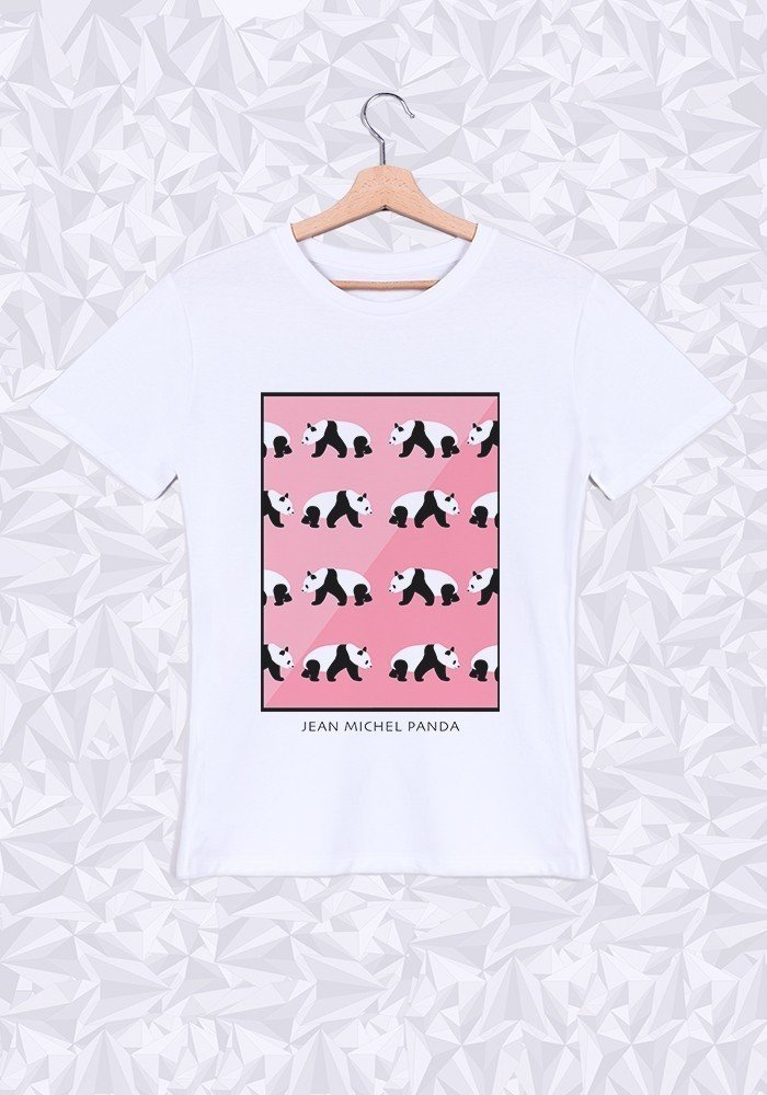 Tshirts Homme Panda Rose