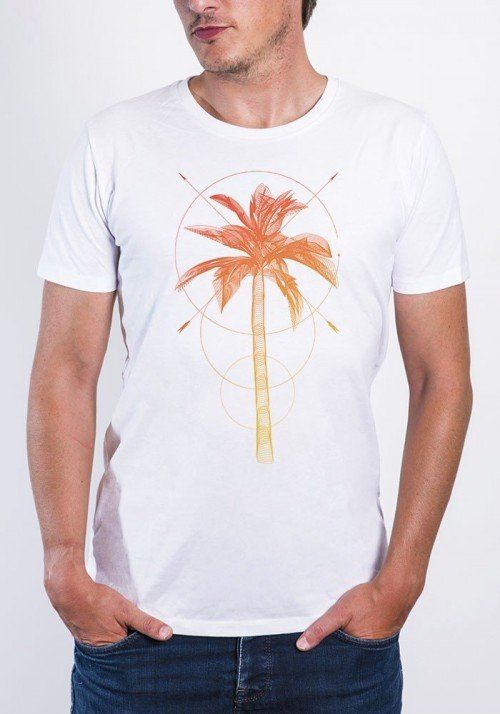 Palmier T-shirt Homme Col Rond