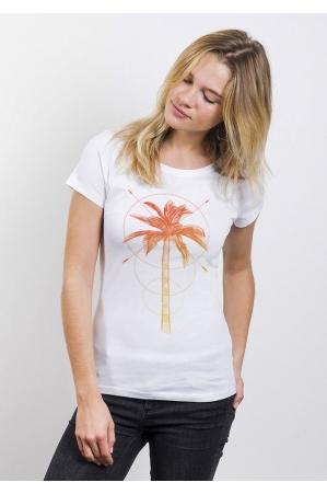Palmier T-shirt Femme Col Rond
