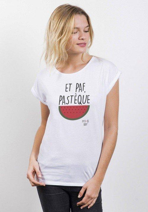 Pastèque T-shirt Femme Manches retroussées
