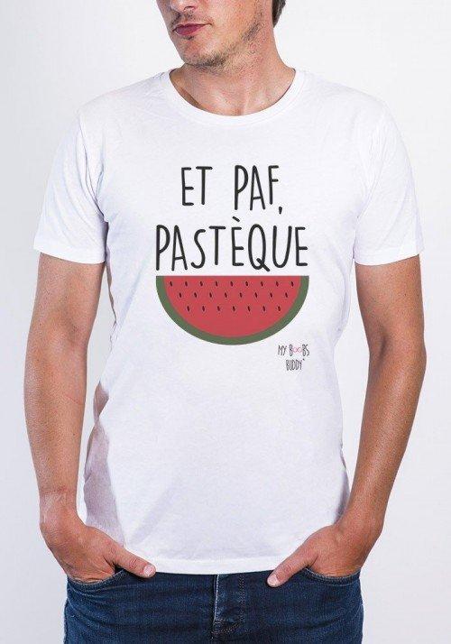 Pastèque T-shirt Homme Col Rond