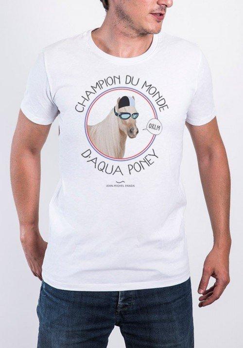 Champion du monde d'Aqua Poney  T-shirt Homme Col Rond